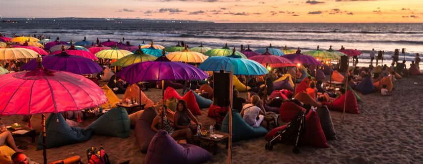 Tourists from around the world love Legian